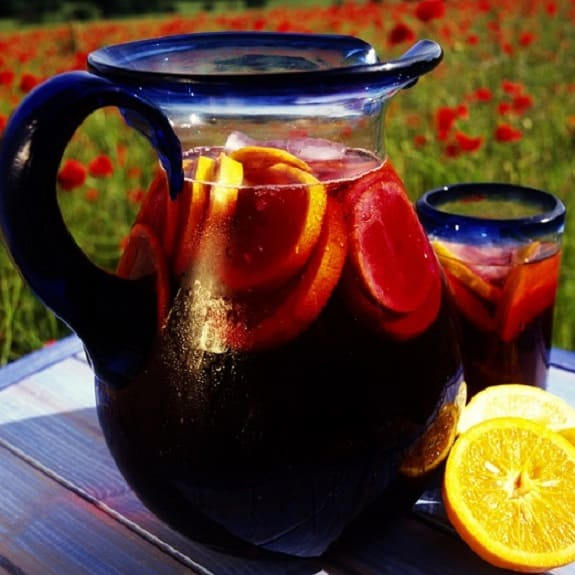 easy orange-lemon sangria wine recipe