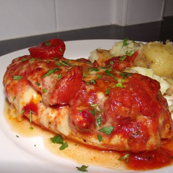 chicken breasts with fresh tomato sauce recipe