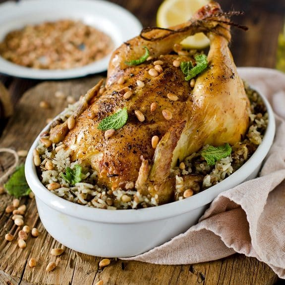 whole roasted chicken with wild rice recipe