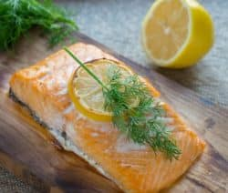 broiled salmon steak with lemon butter recipe