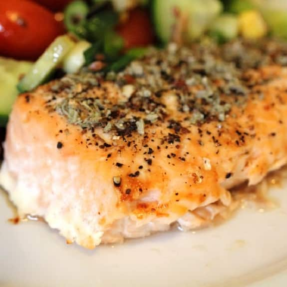 broiled salmon steaks recipe