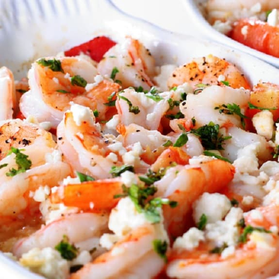 oven baked shrimp with feta cheese recipe