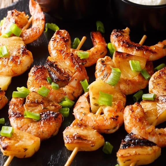 skewered shrimp with fruit recipe