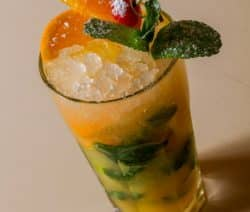 alcoholic cocktail mojito-orange