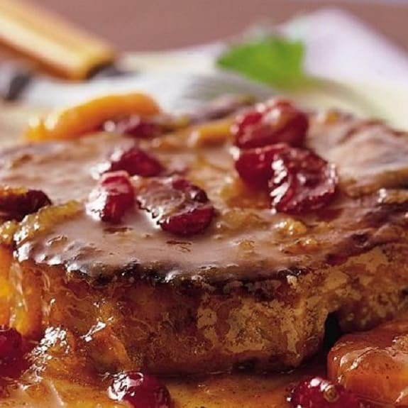 slow cooker pork chops with cranberry-orange sauce