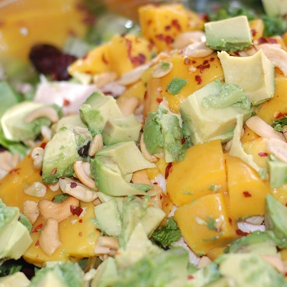chicken salad with mango