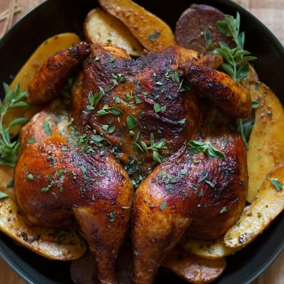 oven baked chicken with paprika