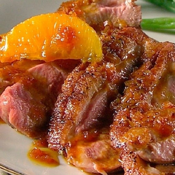 oven baked duck with orange glaze