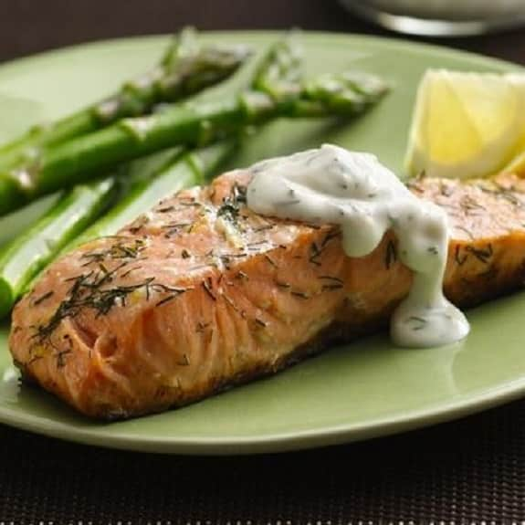 oven baked trout with creamy sauce