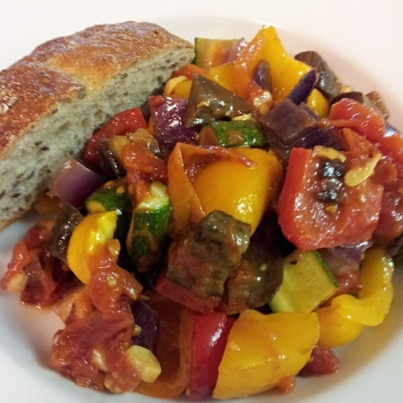oven roasted vegetable ratatouille