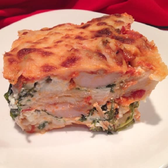 oven baked lasagne with smoked trout