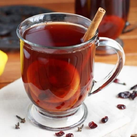 slow cooker cranberry tea