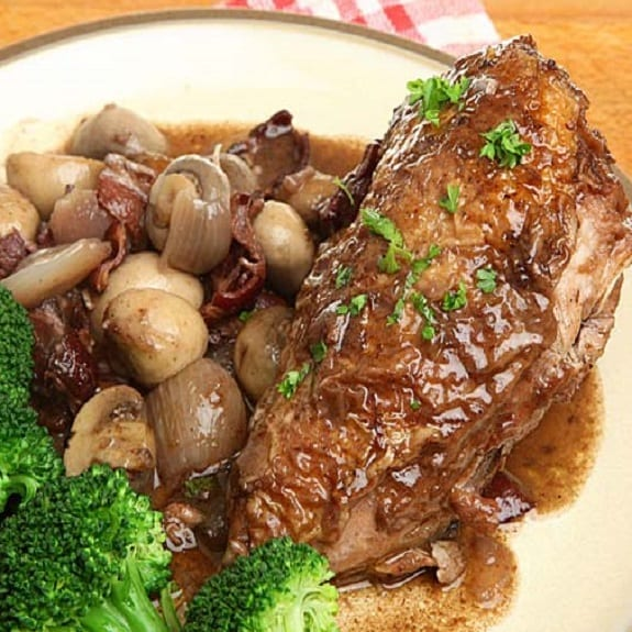 slow cooker chicken breasts with brandy sauce