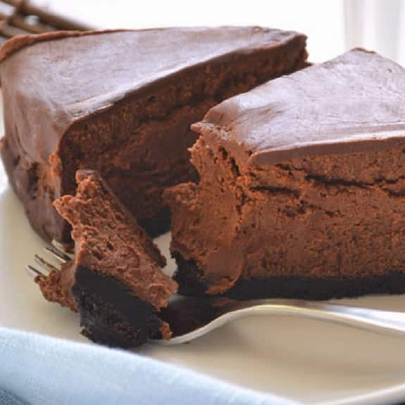 oven baked chocolate cheesecake