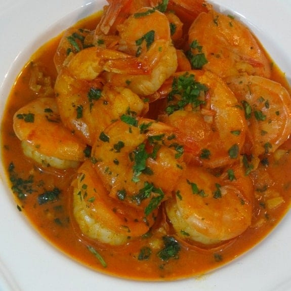 oven baked shrimp in piri-piri butter