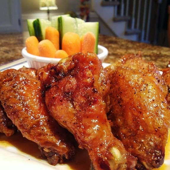 oven baked sweet hot chicken wings