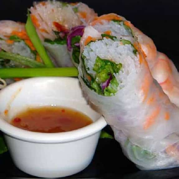 fresh shrimp rolls