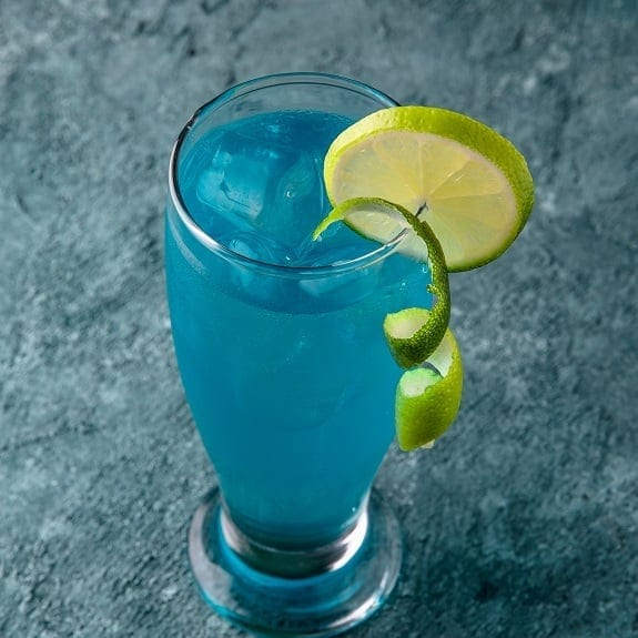 turquoise blue cocktail