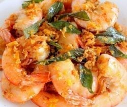 fried malaysian butter prawns recipe