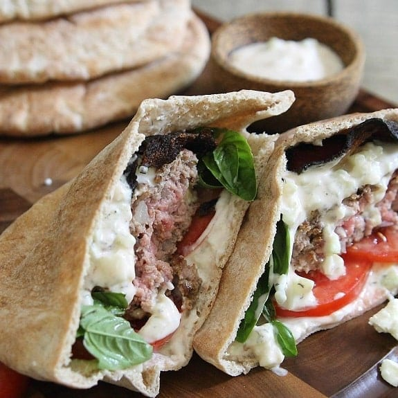 slow cooker greek lamb pitas recipe