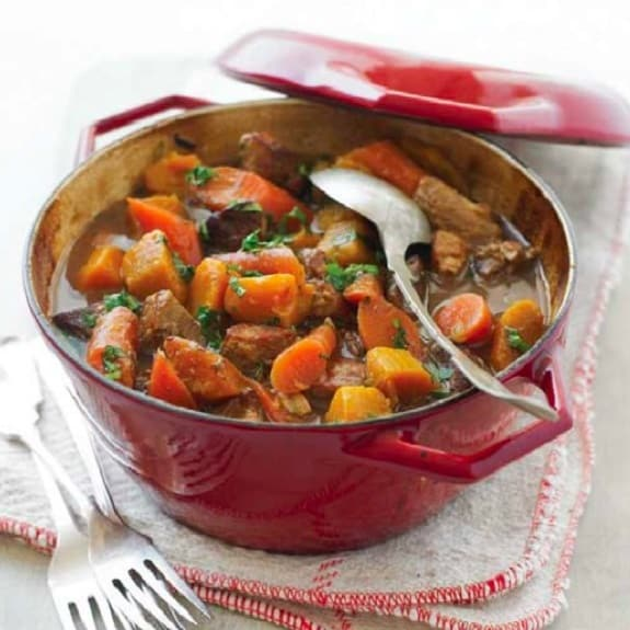 slow cooker pork and squash ragout