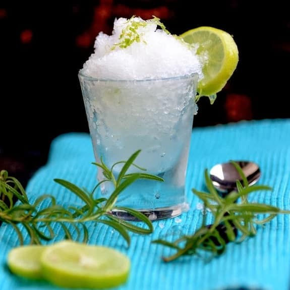 lemon and rosemary granita