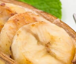 oven baked bananas in madeira sauce