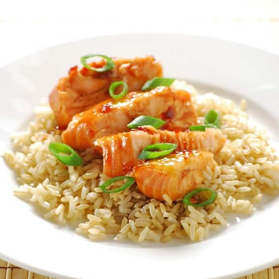 oven baked spicy salmon