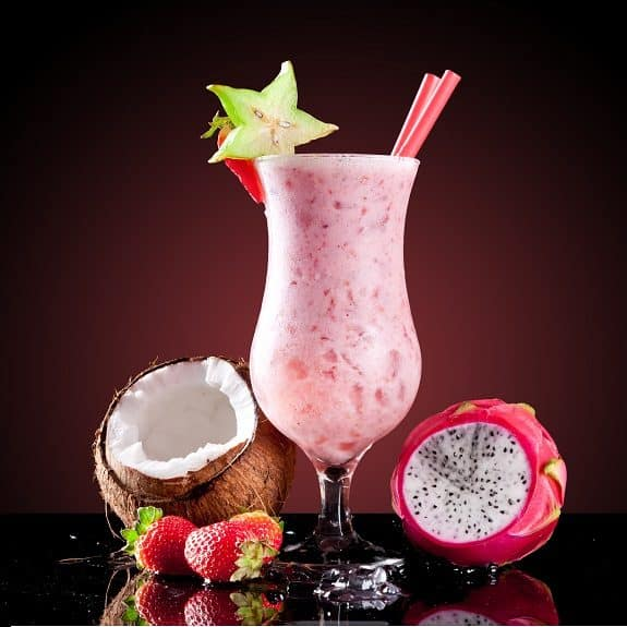 strawberry-coconut cocktail