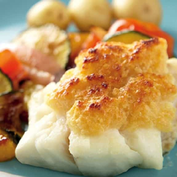 cheesy grilled cod