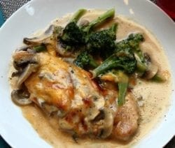 pan-fried chicken mornay recipe