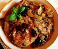 pressure cooker chicken thighs with artichokes