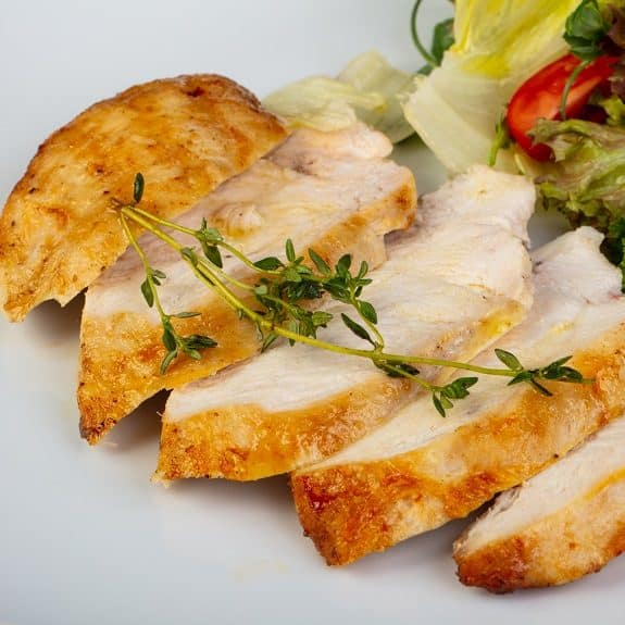 oven baked honeyed chicken breasts