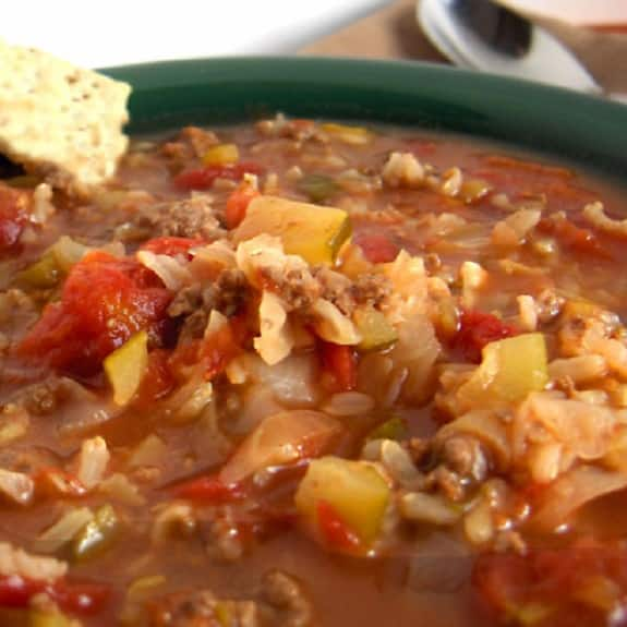 slow cooker chicken cabbage soup with rice
