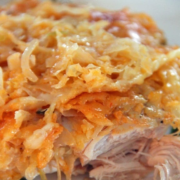 slow cooker reuben style chicken casserole