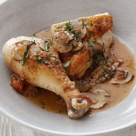 classic chicken saute chasseur recipe