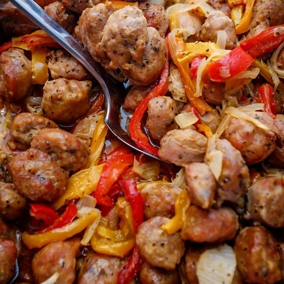 pressure cooker sausage with bell peppers