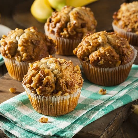oven baked banana nut muffins recipe