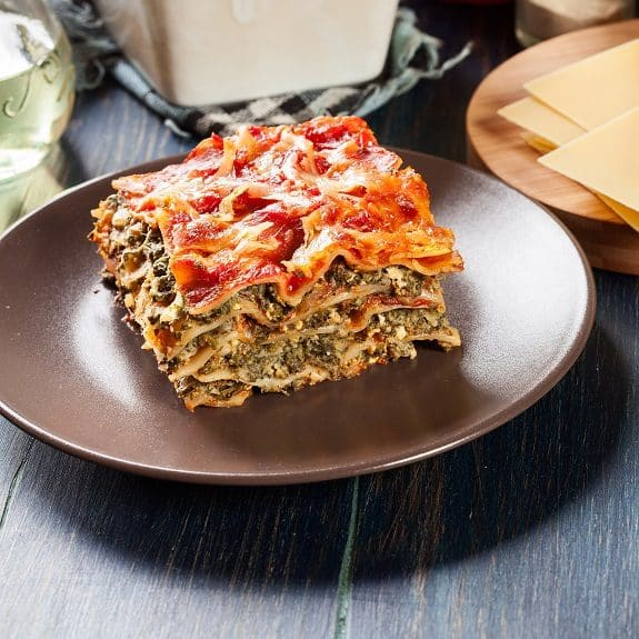 baked easy spinach lasagna