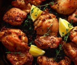 barbecued skinless chicken thighs recipe