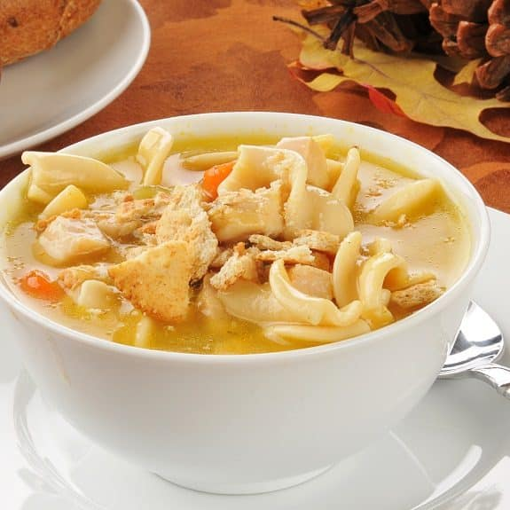 slow cooker turkey noodle soup recipe