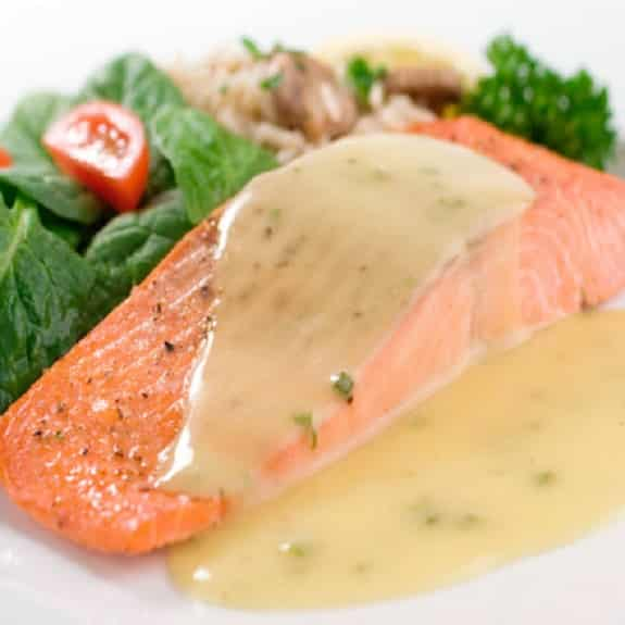 oven-poached salmon fillet recipe