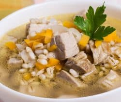 homemade chicken barley soup recipe
