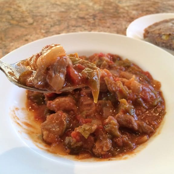 slow cooker tomatillo pork chili recipe