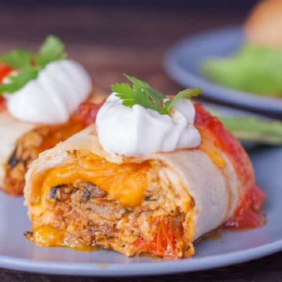 oven baked chicken chimichanga recipe