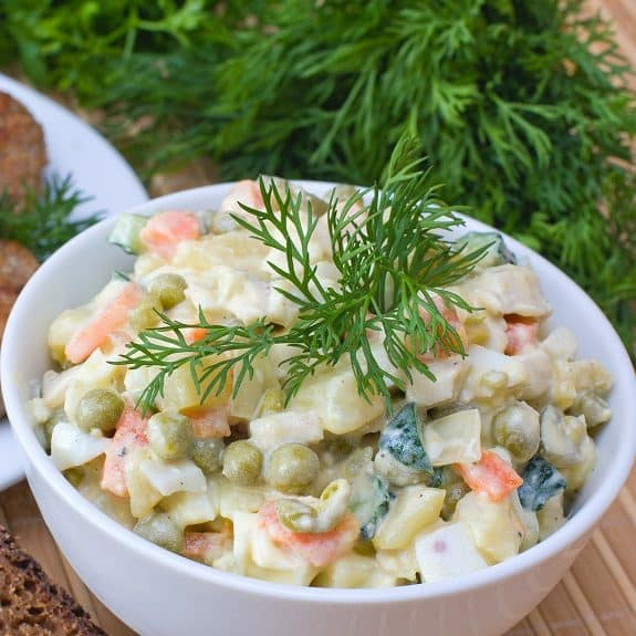 easy vegetarian potato salad recipe