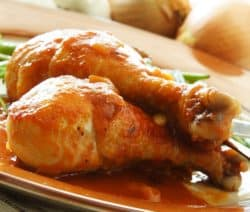 slow baked chicken drumsticks recipe