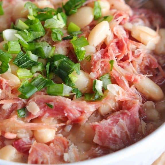 slow cooker ham bean casserole recipe