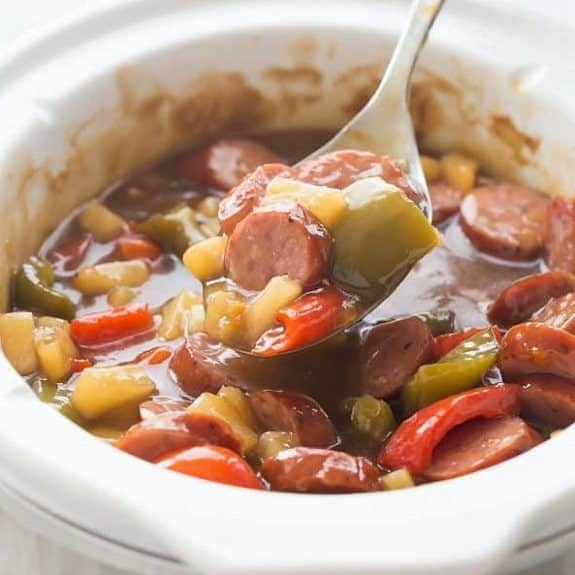 slow cooker apricot sausage stew recipe