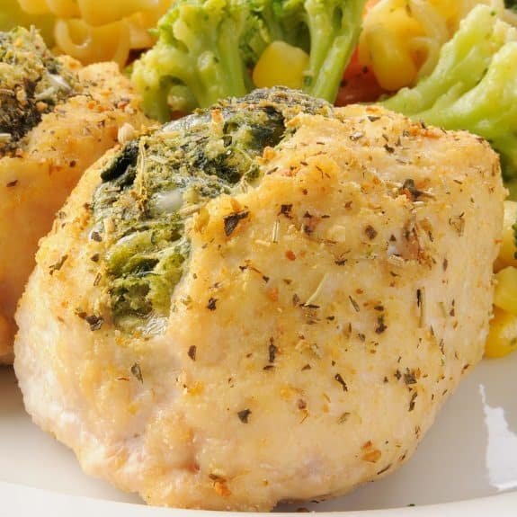 slow cooker spinach-stuffed chicken recipe